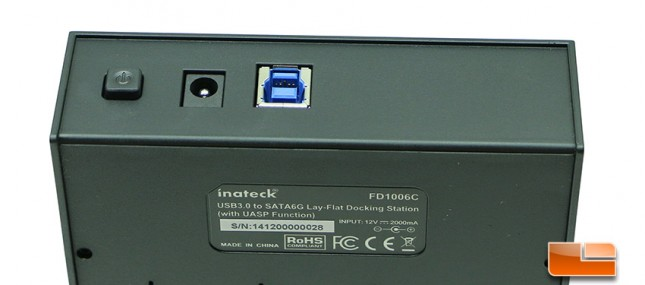Inateck FD1006C Power Switch