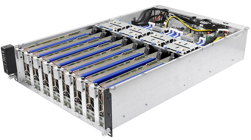 server cabinet with cooling
