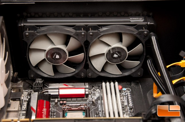 Corsair H100i GTX Radiator Installed
