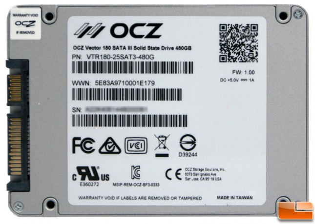 OCZ Vector 180 480GB Rear