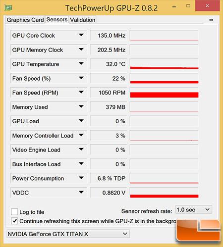 GeForce GTX Titan X Idle Temps