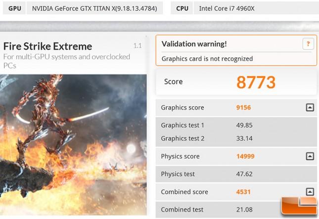 GeForce GTX Titan X 3DMark Max OC