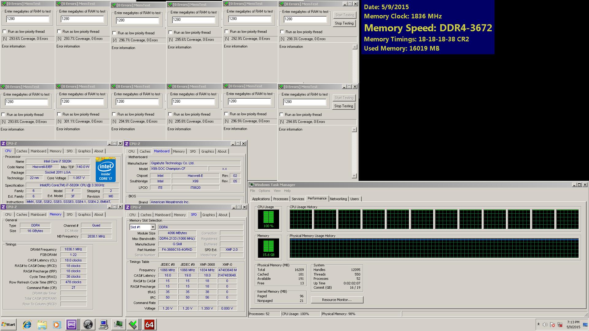G SKILL Ripjaws 4 Series DDR4 3666MHz Memory kit Announced