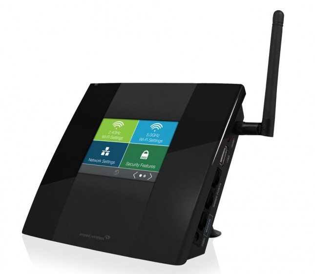 Amped Wireless High Power Touch Screen AC750 Wi-Fi Router