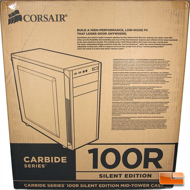 Corsair Carbide 100R Retail Packaging