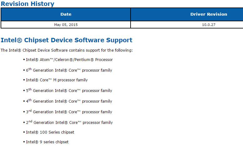 скачать драйвер на чипсет Intel - фото 10