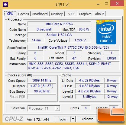 Intel Core i7-5775C Turbo Clock