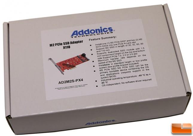 Addonics M2 PCIe SSD Adapter X110