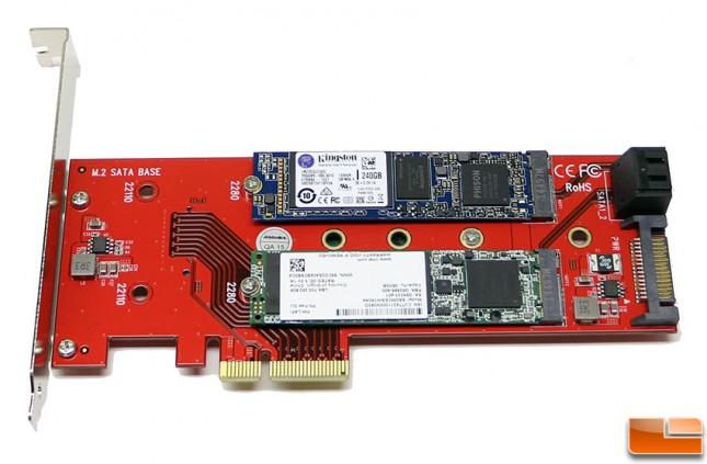 addonics x110 m2 adapter front