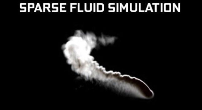 sparse fluid simulation
