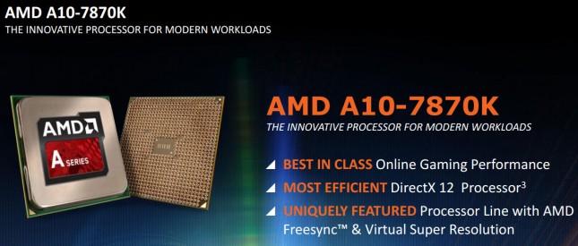 AMD A10-7870K Slide