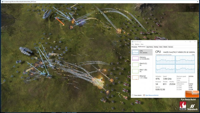 DirectX 12 CPU Load - Ashes of the Singularity