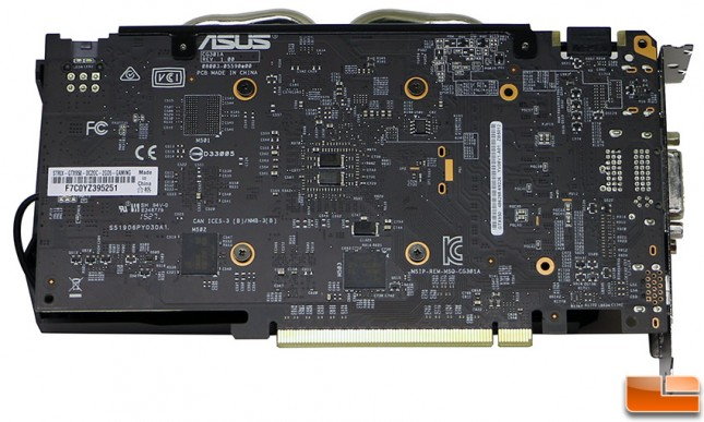ASUS GeForce GTX 950 Strix Video Card Back