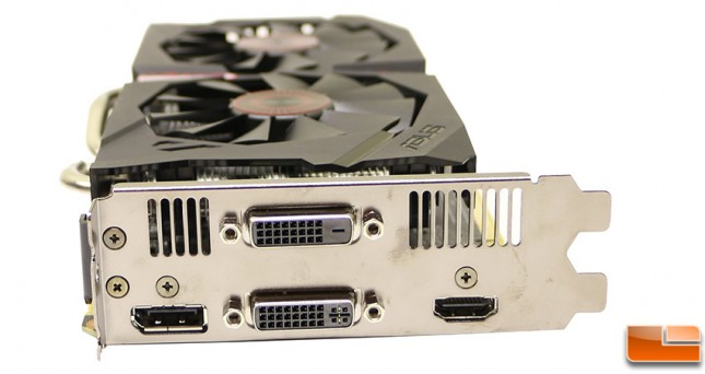 ASUS GeForce GTX 950 Strix Video Card Video Outputs