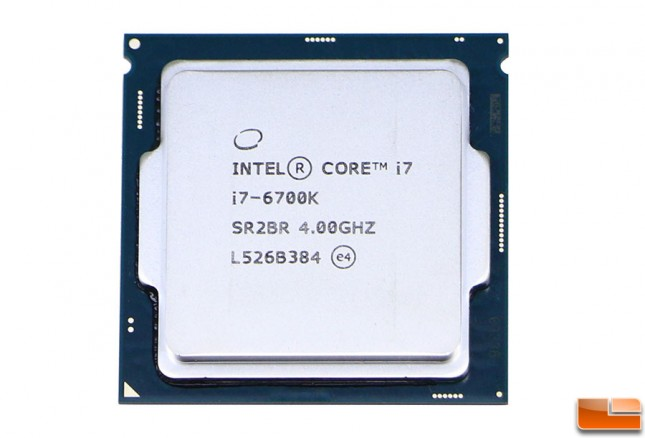 Intel Core i7-6700K CPU