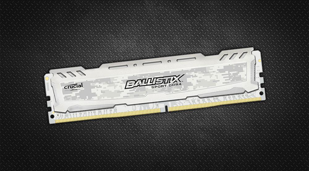 Crucial Ballistix Sport LT DDR4 Memory Has White PCB and Camo Heat ...