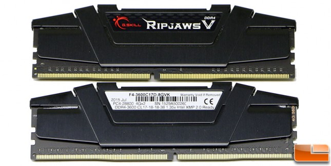 G.Skill Ripjaws V DDR4 3600MHz 8GB Kit