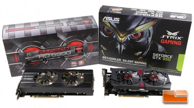 GeForce GTX 950 and Radeon HD 6950