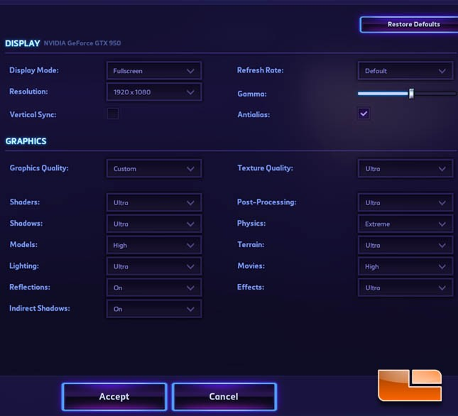 Heroes of the Storm Settings