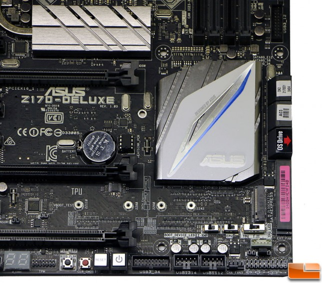ASUS Z170 Deluxe Motherboard M.2 Slot