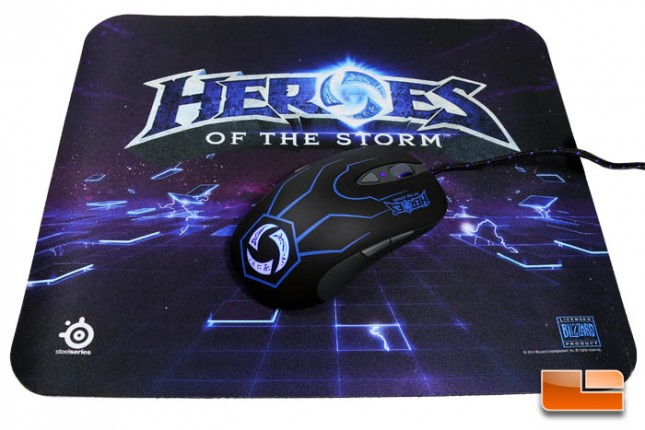 SteelSeries Heroes of the Storm Gaming Mouse and QcK Mousepad