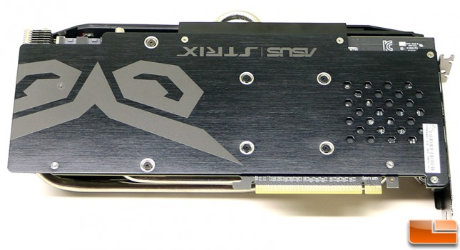 ASUS Radeon R9 390X STRIX Gaming Backplate