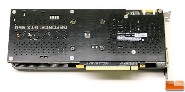 EVGA GeForce GTX 950 Back