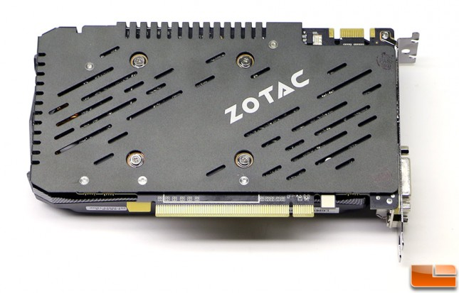 Zotac Geforce GTX 950 AMP! Backplate