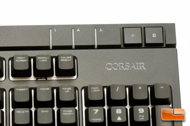 Corsair STRAFE RGB Lock and Brightness