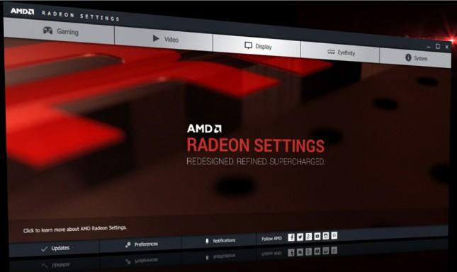 Radeon Settings GUI