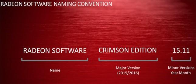 radeon software naming