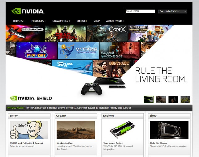 NVIDIA Website 2015