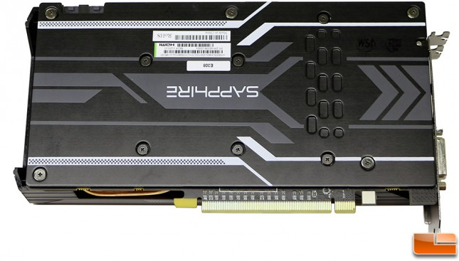 Sapphire Radeon R9 380X Nitro OC Video Card Back