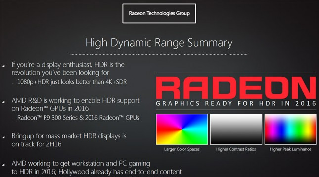 Radeon HDR 2016