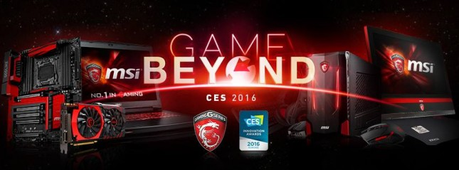 MSI to showcase future of PC gaming at CES 2016