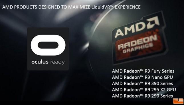 AMD Oculus Ready GPUs