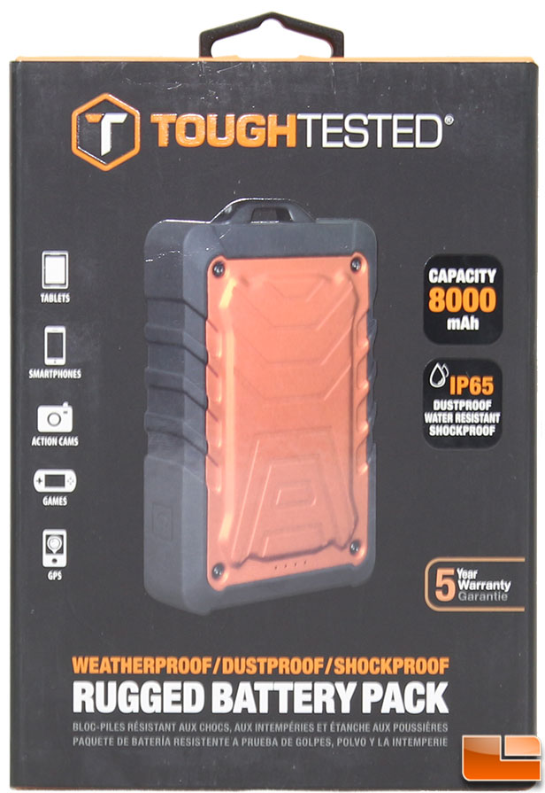 oughTested TT-PBW85 8000mAh Rugged Power Bank