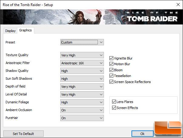 Rise of the Tomb Raider GPU Settings