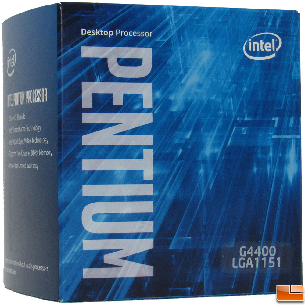 Intel Pentium G4400 Processor Review - Budget Skylake ...