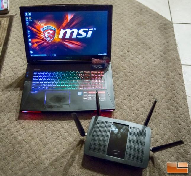 MSI GT72 & Linksys EA8500