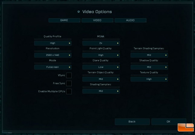 Ashes Video Card Options