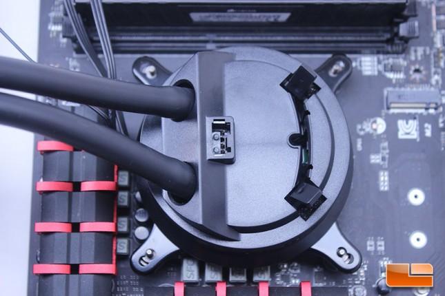 Cryorig A80 CPU Pump, Prior to being secured