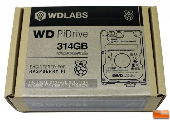 WD PiDrive 314GB Shipping Box