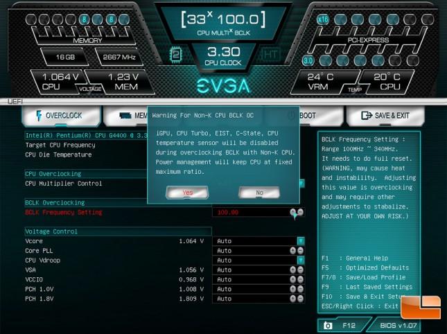 EVGA Z170 Intel G4400