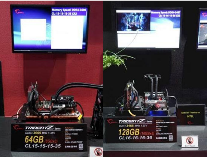 G SKILL Exhibits Extreme Limits of DDR4 Memory at Computex - 4500MHz