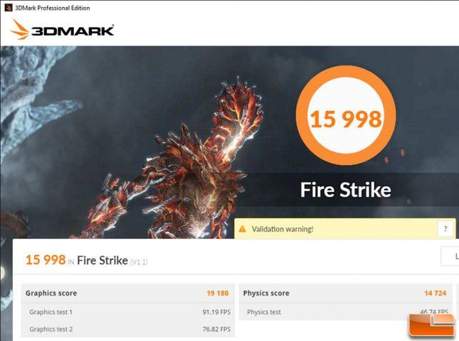 GeForce GTX 1070 3DMark Overclocked Results