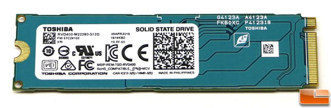Toshiba-OCZ RD400 512GB M.2 PCIe SSD Backside