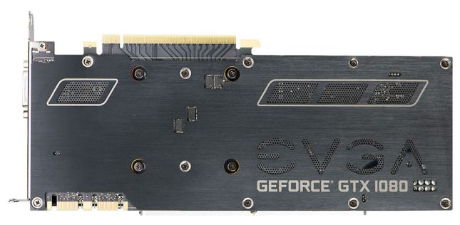 EVGA GeForce GTX 1080 SC Backplate