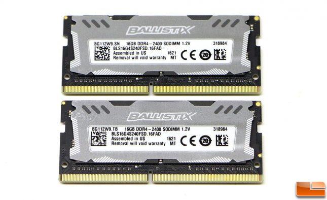 Crucial Ballistix Sport LT 2400MHz DDR4 SODIMM