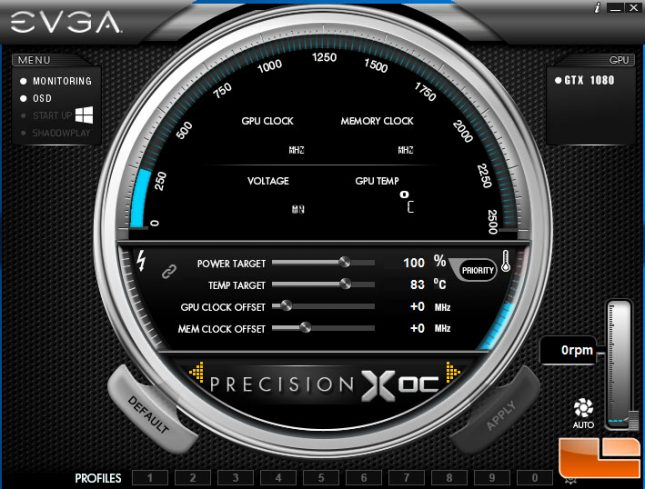 EVGA GeForce GTX 1080 SC Precision X